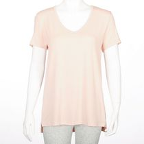 George Women's Dressy V-neck Tee Coral XS