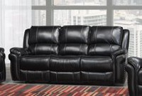 Hilton Dual Recliner Sofa, Black