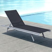 CorLiving Reclining Patio Lounger in Gallant Beige