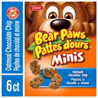 Dare Bear Paws Minis Oatmeal & Chocolate Chip Cookies