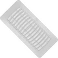 "Imperial 4"" x 10"" White Plastic Floor Register - RG1291-A"