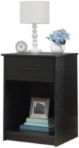 Night Stand - Black Oak Finish
