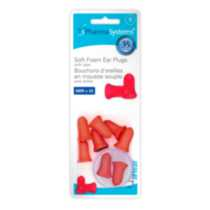 Soft Foam Ear Plugs with case, 8 ear plugs