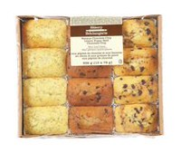 The Bakery Banana Chocolate Chip Lemon Poppy Seed Chocolate Chip Mini loaf Cakes