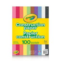 Crayola 100 Sheets Construction Paper