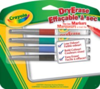 4 Dry-Erase Markers, Fine Line