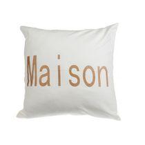 Maison - White Canvas Filled Cushion  - Set of 2