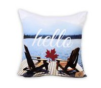 "Canadiana 16"" X 17"" Hello Canada Decorative Cushion"