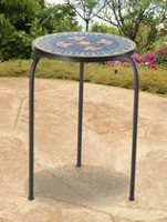 Sunjoy Accent Table Blue Lotus Patio Furniture