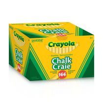 Crayola Dustless Sight Saver Yellow Chalk, Pack of 144 Sticks