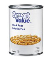 Pois chiches de Great Value