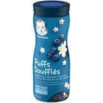 SOUFFLÉS GERBER® Saveur bleuet vanille, collations pour bébés, 42 g