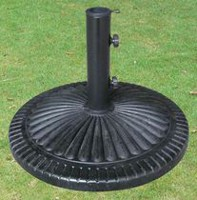 Henryka Round Fluted Design Umbrella Base