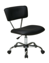 Chaise Vista de Office Star, vinyle noir