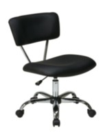 Office Star Products Vista Task Black Vinyl Office Chair
