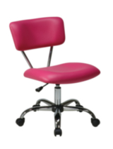 Office Star Vista Task Office Chair - Pink Vinyl