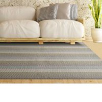 Lanart Pencil Stripe Area Rug 4 ft x 6 ft