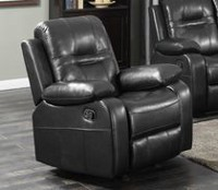 Napolean Recliner with Glider, Black