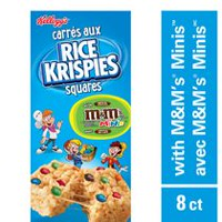 Rice Krispies Squares with M&M's Minis Milk Chocolate Candies, 8 count