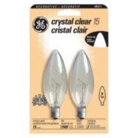GE 15W Clear Chandelier Bulbs