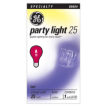 GE 25W A19 Red Party Bulb