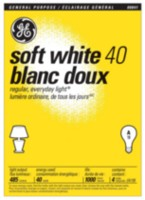 GE Soft White 40W A19 4pk