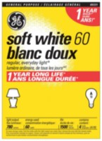 GE Soft White 60W A19 4pk