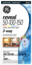 GE Reveal Halogen 3-Way 50/100/150W A21 1pk