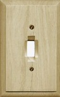 Atron Electro Industries Traditional Unfinished Wood Toggle Wall Plate