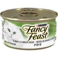 Purina(MD) Fancy Feast(MD) Pate Festin de Dinde et d'Abattis Nourriture pour Chats