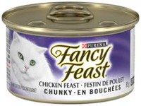 Purina(MD) Fancy Feast(MD) Festin de Poulet en Bouchees Nourriture pour Chats