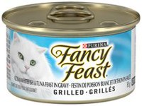 Purina® Fancy Feast® Grilled Ocean Whitefish & Tuna Feast in Gravy Cat Food