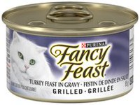 Purina(MD) Fancy Feast(MD) Festin de Dinde Grille en Sauce Nourriture pour Chats