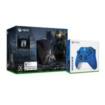 Xbox Series X – Halo Infinite Limited Edition Bundle plus Xbox Wireless Controller – Shock Blue for Xbox Series X|S, Xbox One, and Windows Devices