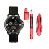 Trend Watches Men's Watch Set with Multi Tool and Double Screwdriver