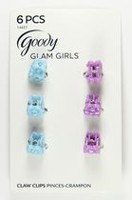 Goody Mini pinces crampon Glam Girls - bleues et violettes
