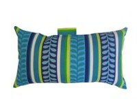 Henryka Blue Stripe Rectangular Toss Cushion