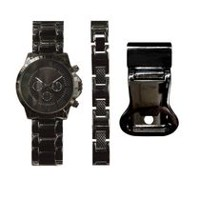Trend Watches Men's Watch Set with Matching Bracelet and Money Clip
