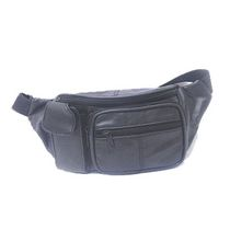 Aero Zip Leather Belt Bag