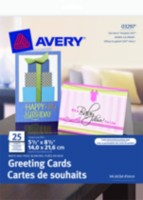 "Avery® Half-Fold Greeting Cards for Inkjet Printers 03297, 5-1/2"" x 8-1/2"", White"
