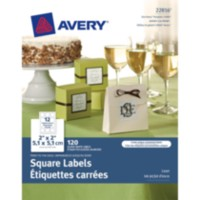 "Avery ® Print-to-the-Edge Square Labels 22816, 2""x 2"""