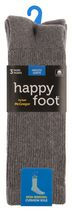 Happy Foot by McGregor Mens' 3 Pair Health Socks Charcoal Heather
