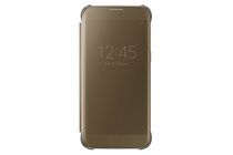 Samsung Clear View Cover Case for Galaxy S7 Edge in Gold