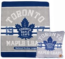NHL Toronto Maple Leafs Fleece Throw and Cushion