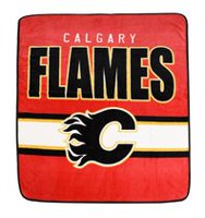 NHL Calgary Flames Luxury Velour Blanket