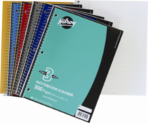 Hilroy Notebook 3 Hole with Margin 3 Subject, 10-½ X 8, 300 Page, Assorted Colours