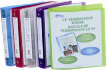 "Metallic Poly Presentation Binder, 1-1/2"" , 11-1/2 x 10"