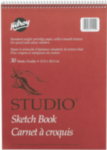 Studio® Coil Sketch Books, Top Perforated Edge, 9 X 12, 60 Pages