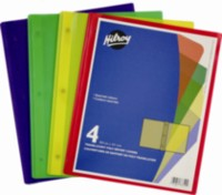 Hilroy Poly Report Covers, 4 Pack