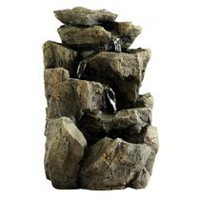 hometrends Rock Waterfall Fountain Décor